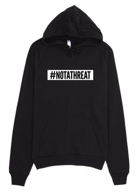 #NOTATHREAT SUPREME (WHITE BLOCK) Hoodie