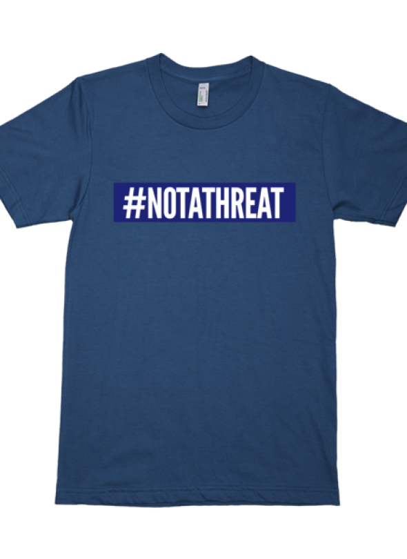 #NOTATHREAT SUPREME (BLUE BLOCK) T-Shirt