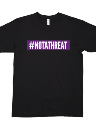 #NOTATHREAT SUPREME (PURPLE BLOCK) T-Shirt